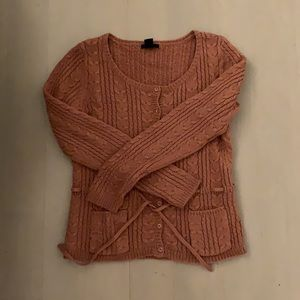 Gorgeous H&M Rose Cable Knit Cardigan